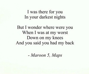 maps, maroon 5, and Lyrics image