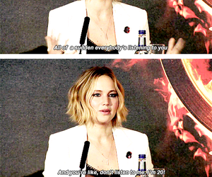 interview, Jennifer Lawrence, and quotes image