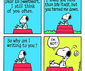 snoopy, love, and funny image