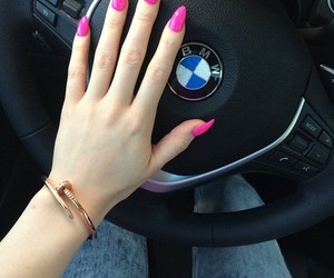 luxury, pink nails, and neon nails image