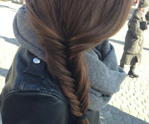 hair, braid, and brunette image