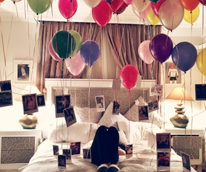 balloons, birthday, and photo image