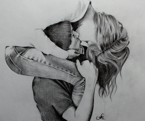 boy, sketch, and couple image