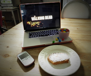 afternoon, apple, and cake image