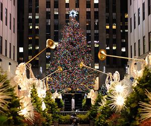 christmas and new york image