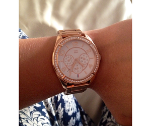 tommy hilfiger, watch, and roze image