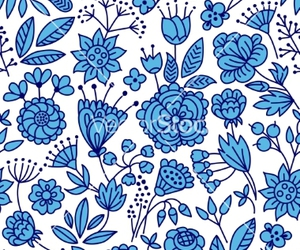 background, doodle, and floral image