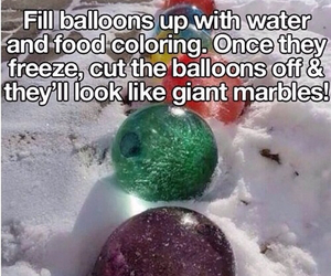 balloon, diy, and marbles image