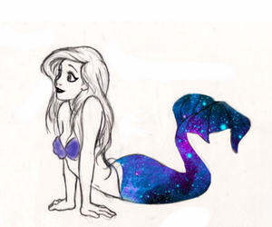 ariel, beauty, and blue image