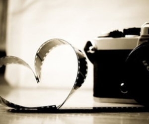 camera, heart, and photography image