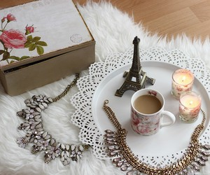 candle, fashion, and necklace image