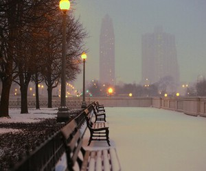photography, city, and cold image