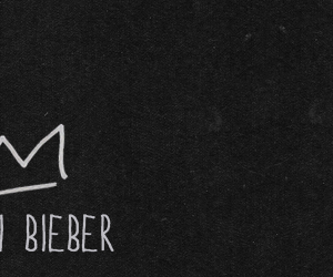 justin bieber, header, and black image