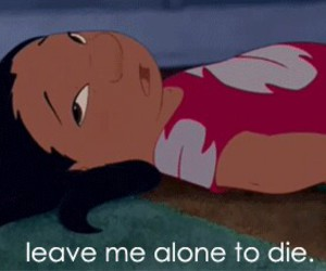lilo y stich and leave me alone to die image