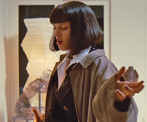 mia wallace, aesthetic, and pulp fiction image