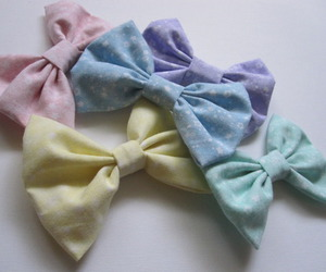 bows, kawaii, and pastel image