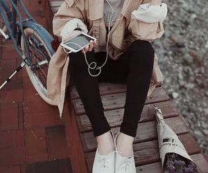 fashion, phone, and bike image