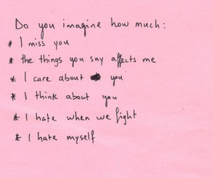 pink, quote, and I Love You image