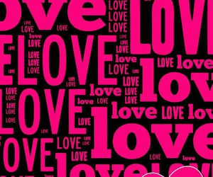 love, pink, and wallpaper image
