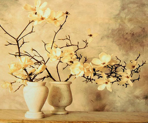 flower, vase, and yellow image