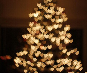 gold, merry christmas, and heart image