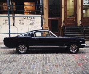 car, black, and mustang image