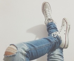 jeans, all star, and clothes image