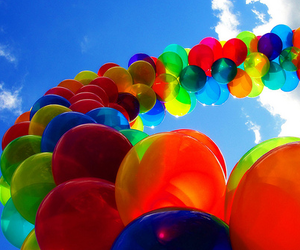 balloon, colors, and balloons image