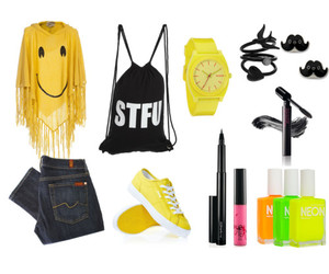 black, moustache, and Polyvore image