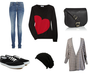 black, heart, and Polyvore image