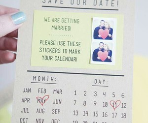 wedding, invitation, and date image