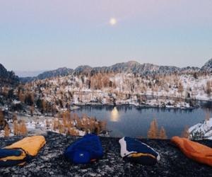 lake, vintage, and nature image