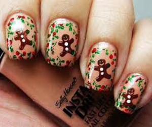 christmas, gingerbread, and nails image