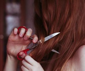 hair, scissors, and cut image