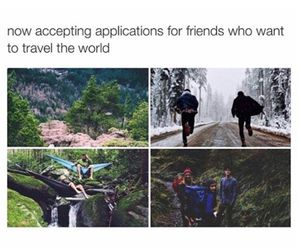travel, friends, and world image