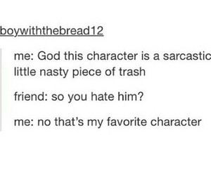 character, sarcastic, and love image