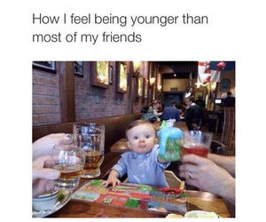 baby, drink, and funny image