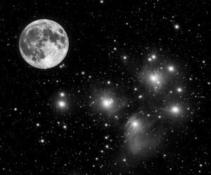 stars, moon, and night image