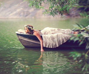 boat, lake, and me image