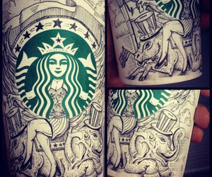 starbucks, love, and cup image