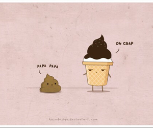 cute, funny, and ice cream image