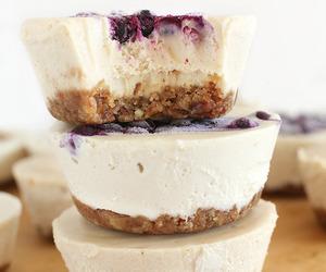 food, sweet, and cheesecake image