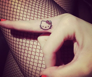 bae, hello kitty, and tattoo image