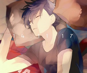 anime, kuro, and haikyuu! image