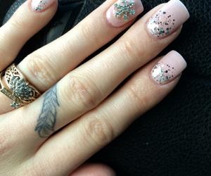 diamond, feather, and nail polish image