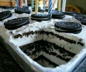 black&white, cake, and chocolat image
