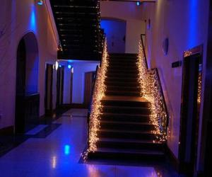 diy, lights, and stairs image