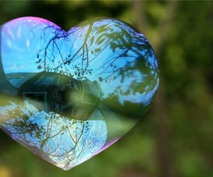 bubbles and heart image