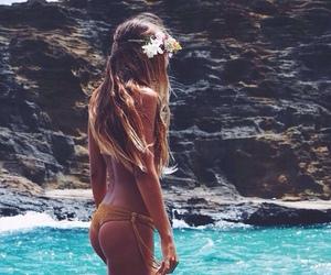 bikini, girl, and tropical image