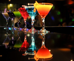 alcohol, bright colours, and Cocktails image